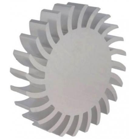 Radiador Disipador térmico redondo de aletas