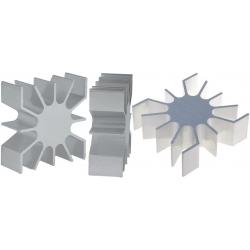 Disipadores Térmicos Cuadrados de Aletas 51.50mm