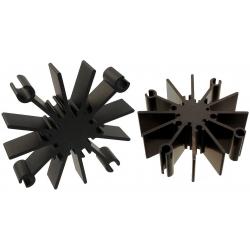 Disipador térmico Star de 69.8mm Negro