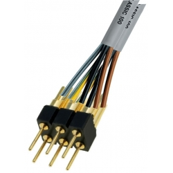 Tira de Doble Pin torneado macho 2.54mm para Cable