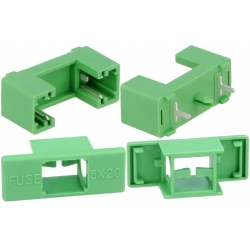 Portafusible 5x20mm con tapa Verde