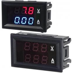 Voltímetro y Amperímtero Led de 100v y 10A de Panel