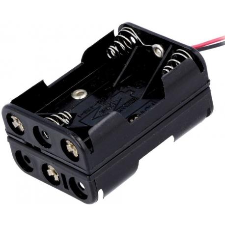 Portapilas baterías 6 x AAA, LR03, R3, 10440