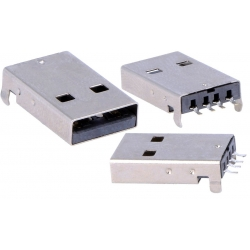 Conector USB-A Macho 4 pin SMD para Cable