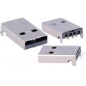 Conector USB-A Macho 4 pin SMD para Cable
