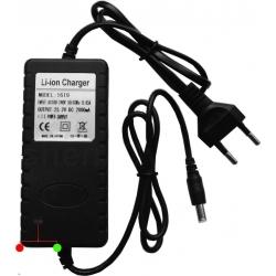 Cargador para Pack Baterías de litio 18.5v, 21v, 25.9v, 29.4v