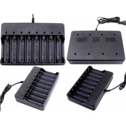 Multi Cargador de 8 bahías para Baterías 18650 de Litio