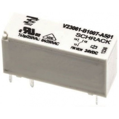 Rele Mini TE SCHRACK V23061 SPDT 24v