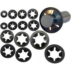 Arandelas Dentadas de Seguridad de metal negro
