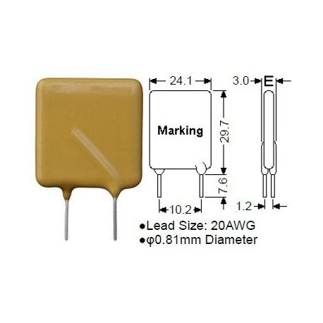 Fusible de polímero PTC Epoxi 30v-18A