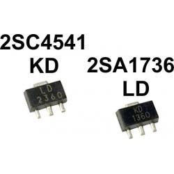 Transistor 2SA1736 y 2SC4541 NPN, PNP SOT-89