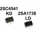 Transistor 2SA1736 y 2SC4541 PNP y NPN SOT-89