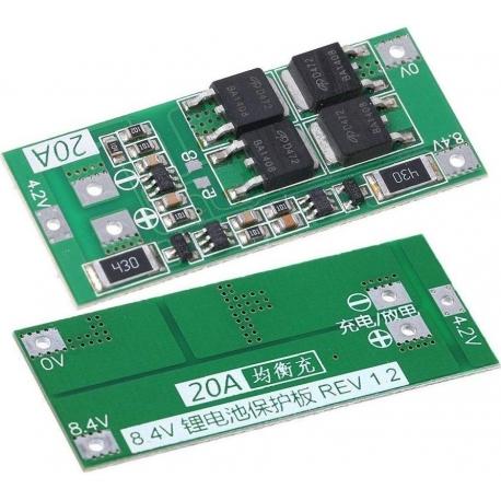 PCM 2S para Baterías de Litio 7.4v 15-20A