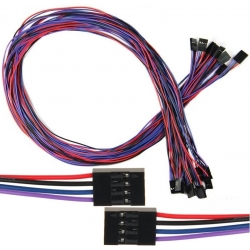 Conector Dupont Hembra-Hembra Cable 700mm 2 a 4 pin