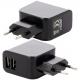 Cargador enchufe Doble USB para Litio 220v-5v.2.1A