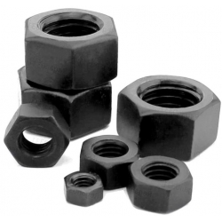Tuercas Negras de Acero M2, M2.5, M3, M4, M5