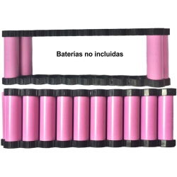 Soporte, Bastidor Porta Baterías 18650