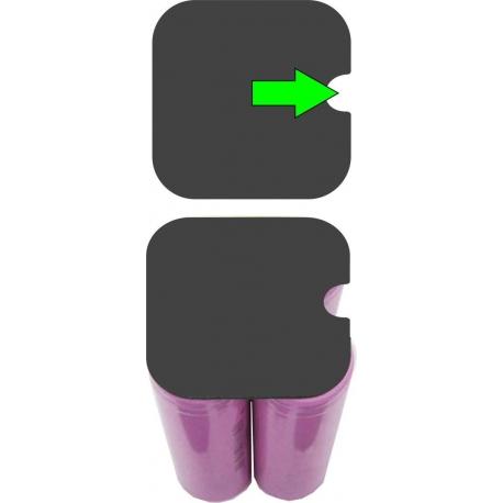 Aislantes de PET Pack de 4 Baterías 18650 Arriba