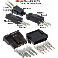 Conectores Molex MX43 MicroFit 3.0 Single Row
