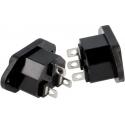 Base enchufe de luz IEC-60320 macho CS