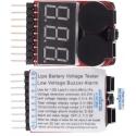 Monitor 3 dígitos Led y 2 buzzer para baterías Li-po