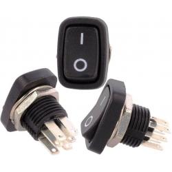 Mini Interruptor basculante (Rocker) 2 posiciones con Serigrafía
