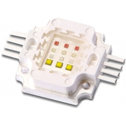 Led 12w de Potencia RGBW 12 Chip Cuadrado