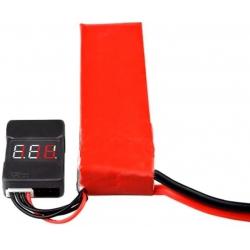 Monitor Digital de tres dígitos de baterías Li-po