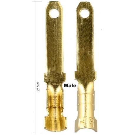 Terminales Faston Macho 2.8mm sin reten