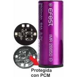 Baterías de Litio 26650 3.7v 3.500mA Efest 32A