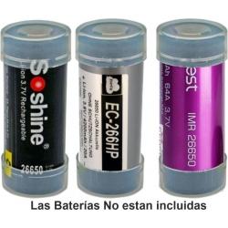 Juego de 2 Protectores de Baterías 26650