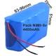 Pack Batería NI-MH Recargable AA 6v.4400mAh