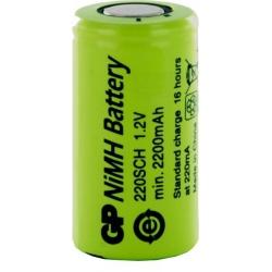 Batería NI-MH Recargable SC 1.2v. 2.200mA GP