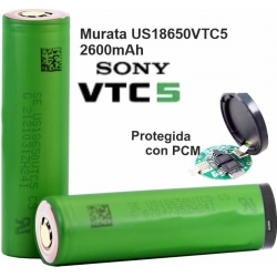 Bateria Litio Sony-Murata 18650VTC5 2600mAh, 30A