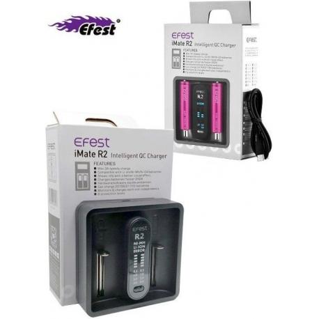 Cargador de mesa 1 Bateria de Litio 3.7v Efest R2