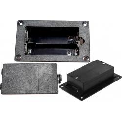 Portapilas baterías 2x18650 Empotrable Paralelo
