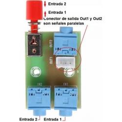 Conmutador de Audio, 2 entradas una salida