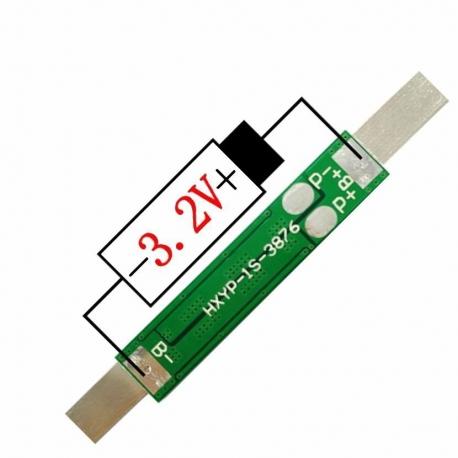 PCM 1S para Baterías de LiFePo4 3.2v. HXYP-1S 10A