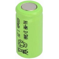Batería NI-MH Recargable 1.2v. 2/3AA 600mA