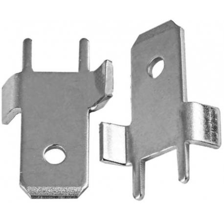Faston macho PCB 6.3mm tipo S con tope