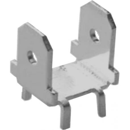 Faston macho PCB 6.3mm Doble DJ61138
