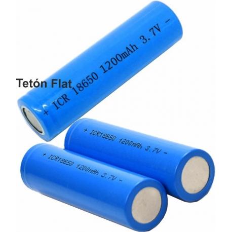 Batería de Litio ICR18650 Flat