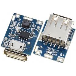 Fuente DC-DC-Step Down USB Hembra-MIcro usb 3.7-.5.5v. a 5V. 22x17mm