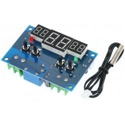 Termostato Digital Inteligente de panel, 12v, 10A -9-99ºC