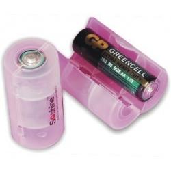 Adaptadores Baterías-Pilas 1-AA/R6 a 1 LR20/D