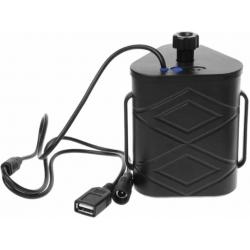 Porta Baterías 3x26650 o 18650 con Jack y Cables USB