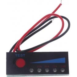 Medidor de Capacidad para Baterías de Litio con 5 led 40x15mm