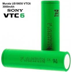 Bateria Litio Sony-Murata 18650VTC6 3000mAh, 30A