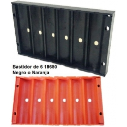 Bastidor Negro/Naranja 6x18650