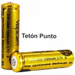 Baterías de Litio 14500 3.7v 1000mA Recargable VapCell